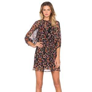 🔸REBECCA MINKOFF Printed Silk sheer Dress